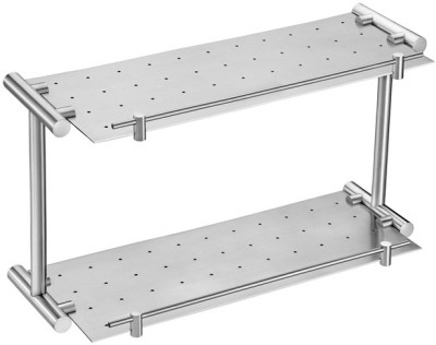 Doyours Two Layer 400mm Stainless Steel Wall Shelf
