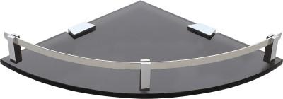 Dolphy Acrylic Smock Corner-9 Inch Stainless Steel Wall Shelf