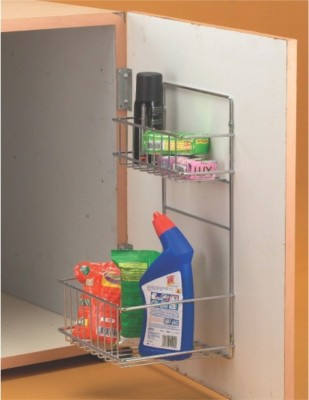 Vinay detergent holder Stainless Steel Wall Shelf