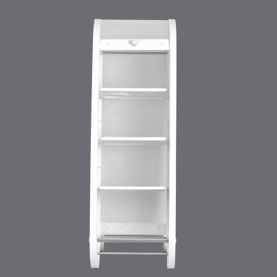 Hallmarc White Metal, Plastic, Particle Board Wall Shelf