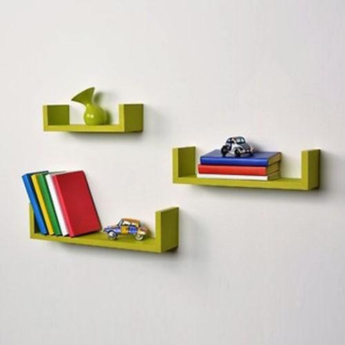 View Decorhand MDF Wall Shelf(Number of Shelves - 3, Green) Furniture (Decorhand)