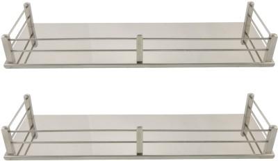 Dolphy Set Of 2 Shelf-16x5 Inch Stainless Steel Wall Shelf