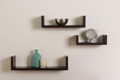 hardika furniture u shape MDF Wall Shelf