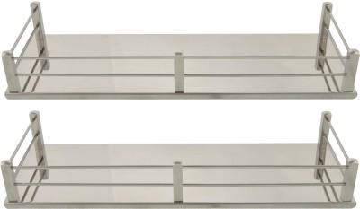 Dolphy Set Of 2 Shelf-14x5 Inch Stainless Steel Wall Shelf