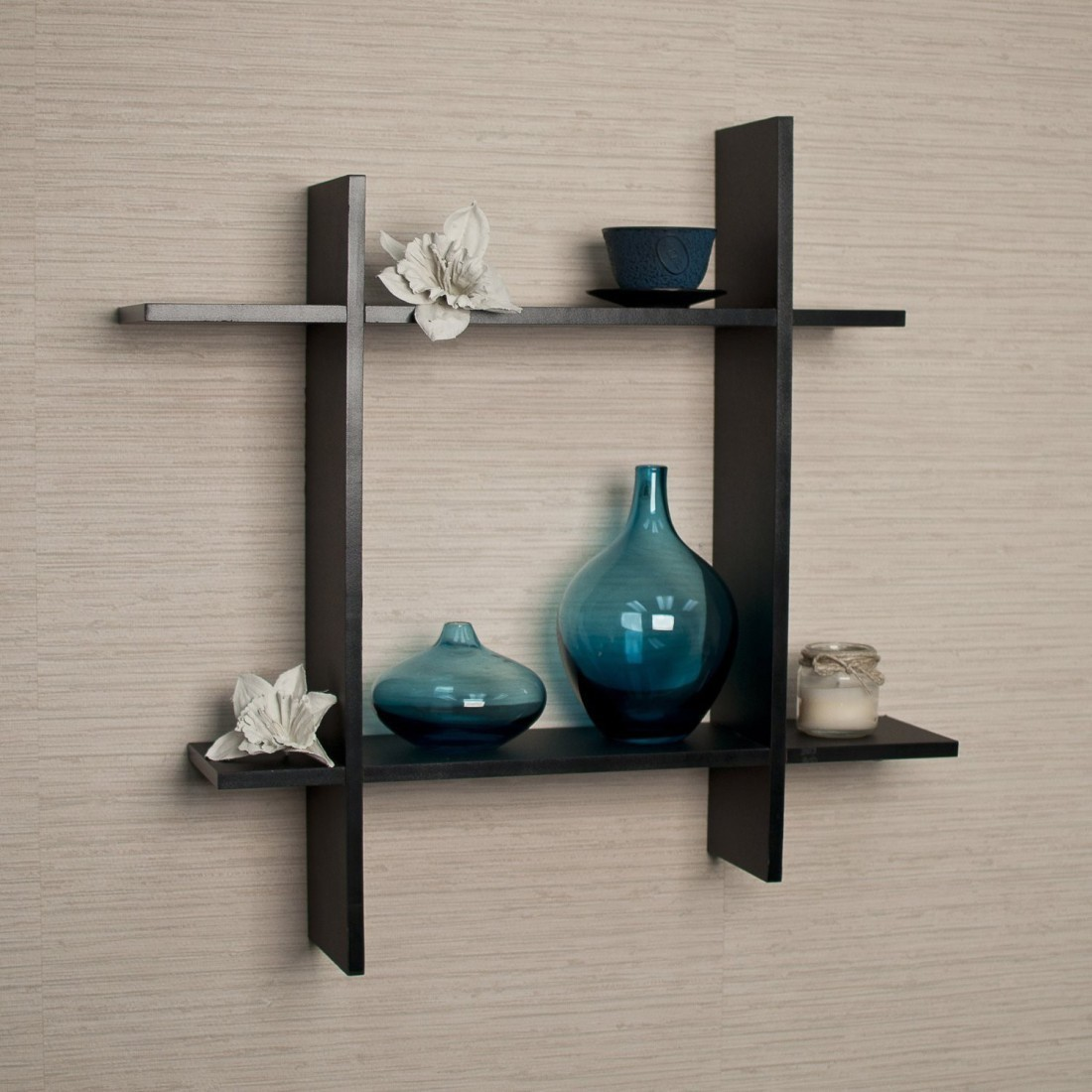 View Arsalan Chakor Square Wooden Wall Shelf(Number of Shelves - 4) Furniture (Arsalan)