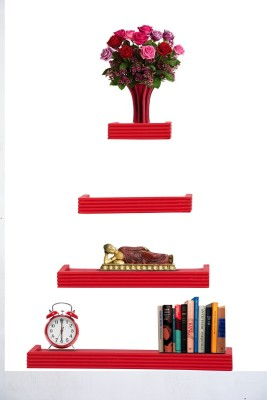 Furniselan Red MDF Wall Shelf