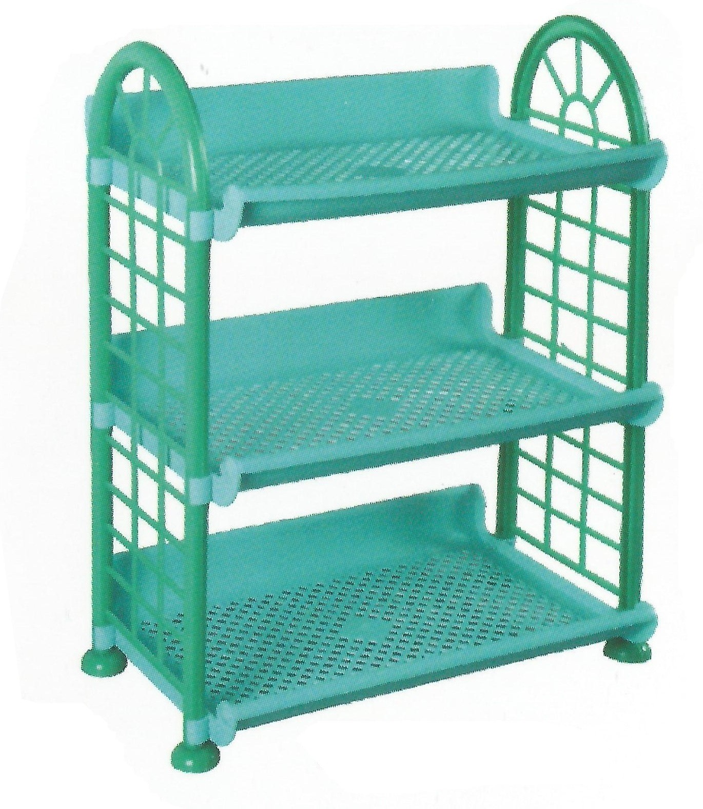 View De Ultimate 3 Compartments Foldable Beautiful Multipurpose Rack Plastic Wall Shelf(Number of Shelves - 3) Furniture (De Ultimate)
