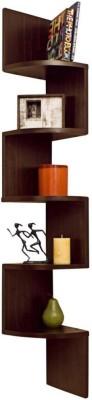 Exclusive Furniture Zig Zag Corner Wooden Wall Shelf