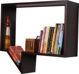 Kohinoor Wooden Wall Shelf(Number of Shelves - 1, Brown)