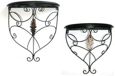 Inspired Living Set Of 2 Beautiful Wood & Iron Wall Bracket Iron, Wooden Wall Shelf