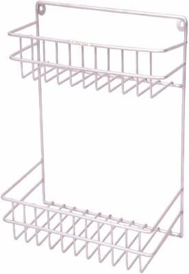 Zecado Small Multipurpose Rack Stainless Steel Wall Shelf(Number of Shelves - 2, Silver)
