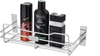 Leaves Perfume Rack Pack Of 1 Pcs Stainless Steel Wall Shelf