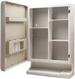 DEVICE IN LION Plastic, Glass Wall Shelf(Number of Shelves - 5)
