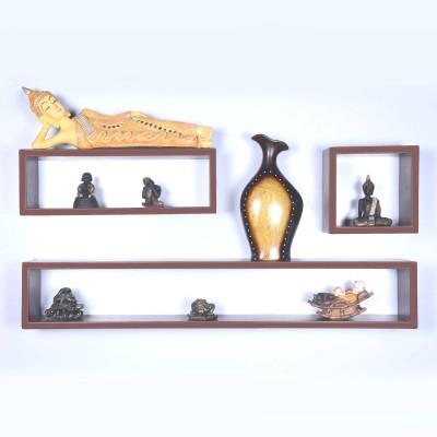Dcjc Dcjc Designer Shelf 2 - Set Of 3 MDF Wall Shelf