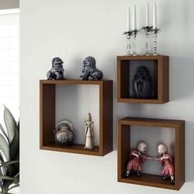 Onlineshoppee Wooden Wall Shelf(Number of Shelves - 3, Multicolor)