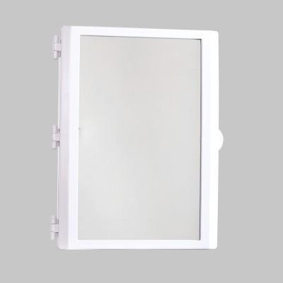 Hallmarc Mirror Cabinet White Plastic Wall Shelf