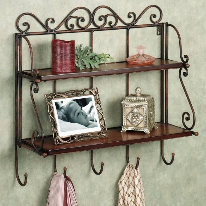 View Decorhand Antique Wooden Wall Shelf(Number of Shelves - 2, Brown) Furniture (Decorhand)