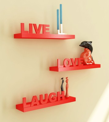 Home Sparkle Live Love Life Wooden Wall Shelf
