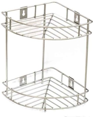RBJ Kitchen Corner Rack 2 Tier Stainless Steel Kitchen Rack