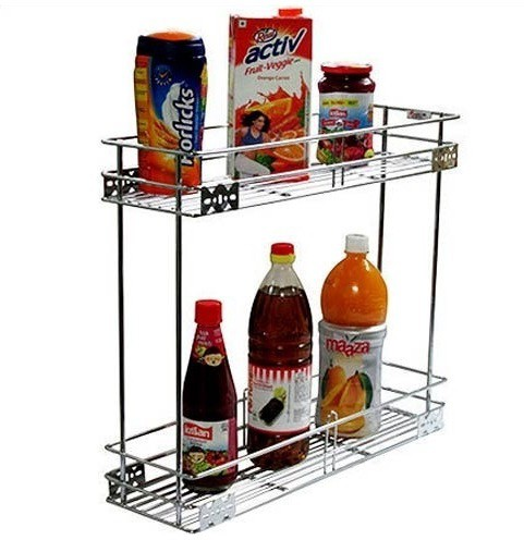 View RBJ Multipurpose Pullout For Kitchens Stainless Steel Wall Shelf(Number of Shelves - 2, Steel) Furniture (RBJ)