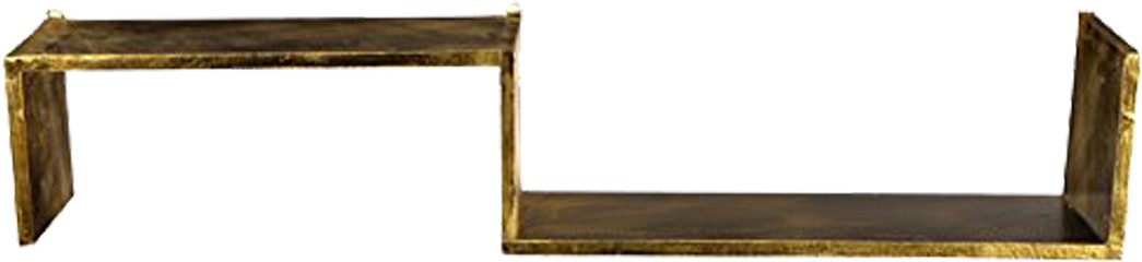 View Fusion Gallery Golden Antique Wooden Wall Shelf(Number of Shelves - 2, Gold) Furniture (Fusion Gallery)