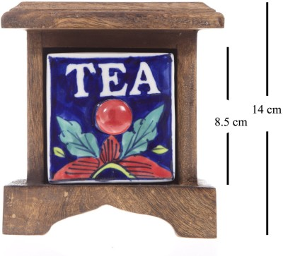 Smile2u Retailers Tea Box Wooden Wall Shelf(Number of Shelves - 1, Multicolor)