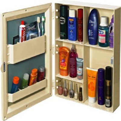 Cipla Plast Bathroom Flora Mirror Cabinet Plastic Wall Shelf