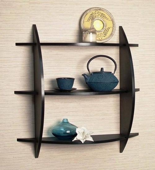 View Fabulo three tier rack MDF Wall Shelf(Number of Shelves - 1, Black) Furniture (Fabulo)