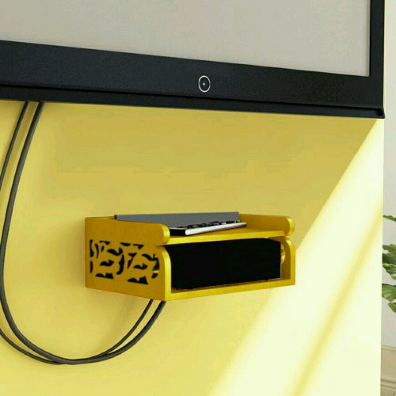 View Martcrown Engineered Se- Top Box Wooden Wall Shelf(Number of Shelves - 1, Yellow) Furniture (Martcrown)