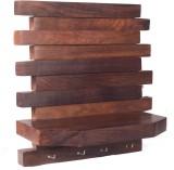 Zuniq Wooden, Steel Wall Shelf (Number o...