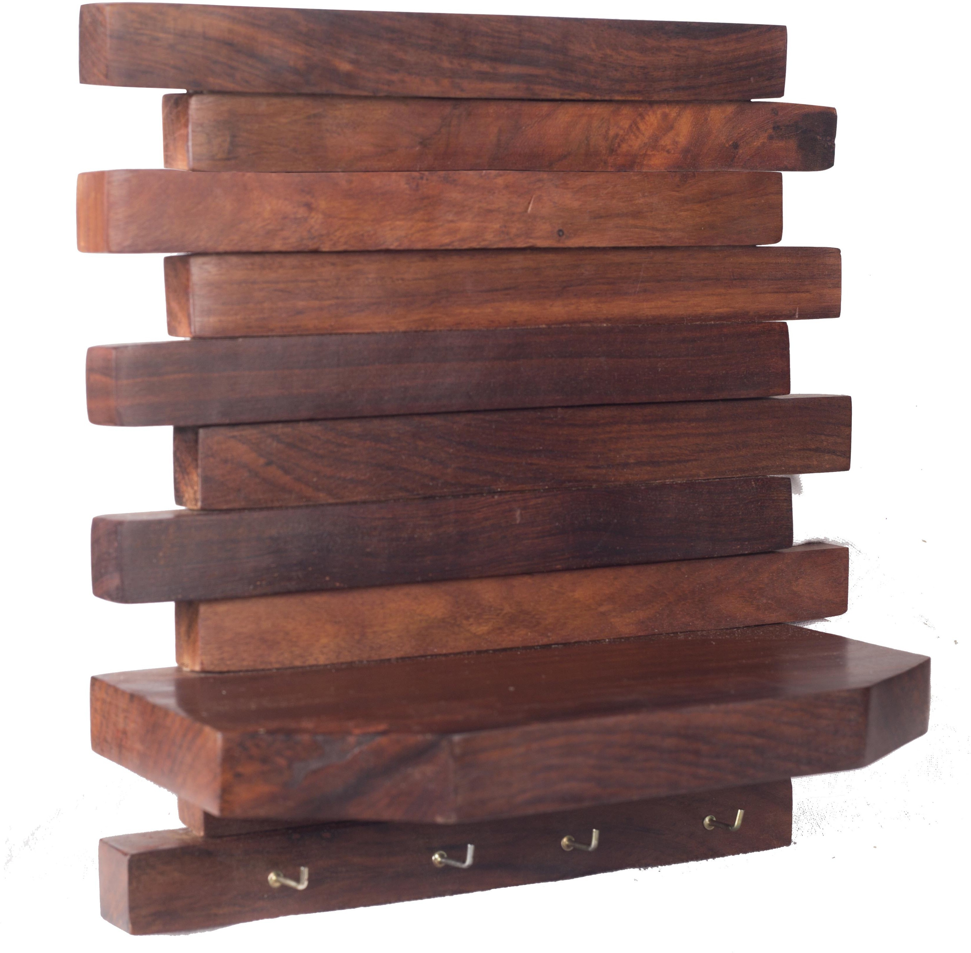 View Zuniq Wooden, Steel Wall Shelf(Number of Shelves - 1, Brown) Furniture (Zuniq)