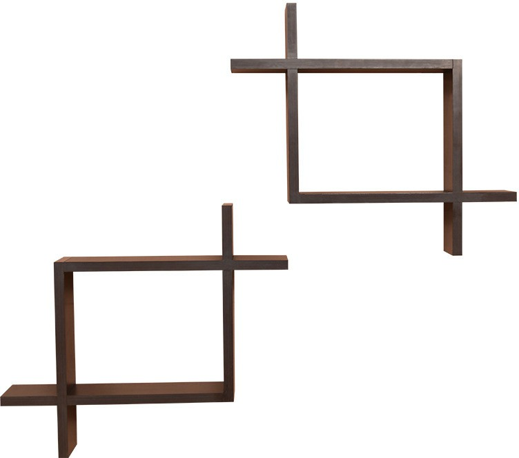View Amour BS017 Wooden Wall Shelf(Number of Shelves - 2, Multicolor) Furniture (Amour)