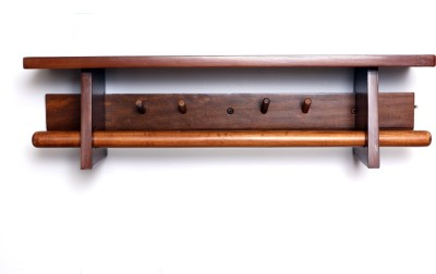 Curve Wooden Wall Shelf(Number of Shelves - 1, Brown)