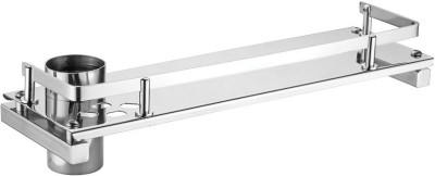 dazzle 5 X 12 Shelf with Toothbrush Holder Stainless Steel Wall Shelf