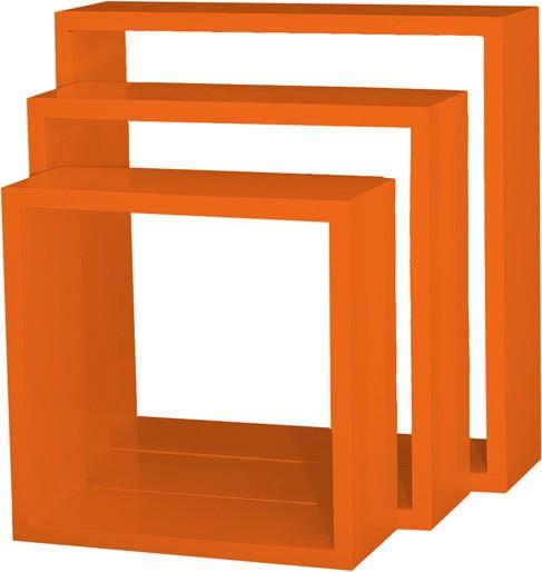 View Custom Decor Nesting Wooden Wall Shelf(Number of Shelves - 3, Orange) Furniture (Custom Decor)