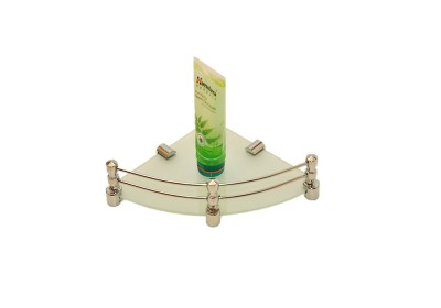 royaL indian craft 8 Inch Full Frosted Glass Wall Shelf