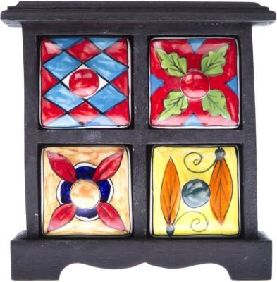 Fashion Craft Jaipuri art Wooden Wall Shelf
