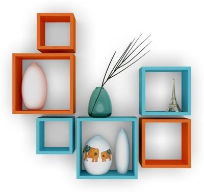 DecorNation Nesting Square Wooden Wall Shelf
