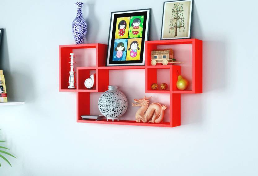 View FOREX MAX HANDICRAFTS INTERESTING SHELVES MDF Wall Shelf(Number of Shelves - 3, Pink) Furniture (Forex Max Handicrafts)