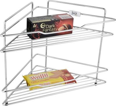 JVG Stainless Steel Wall Shelf(Number of Shelves - 1, Silver)
