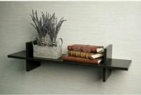Martcrown Book Rack MDF Wall Shelf(Number of Shelves - 1, Black)