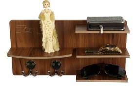 7CR 7cr wall shelves 4S Wooden Wall Shelf(Number of Shelves - 4, Brown)
