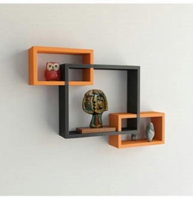 hardika furniture Intersecting MDF Wall Shelf