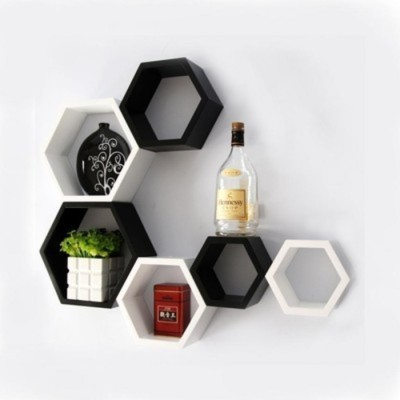 Onlineshoppee Afr992 Wooden Wall Shelf