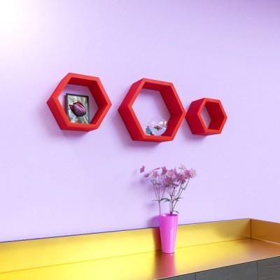 Surya Ind Hexagon Shape MDF Wall Shelf