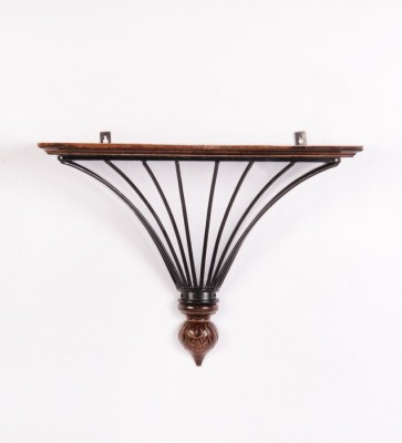Onlineshoppee Wooden, Iron Wall Shelf(Number of Shelves - 1, Brown)