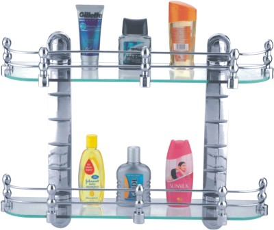 Cipla Plast Bathroom Glass Set Glass Wall Shelf