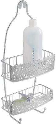 Interdsign InterDesign Blumz Bathroom Shower Caddy for Shampoo, Conditioner, Soap - Clear/Silver Stainless Steel Wall Shelf