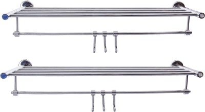 Dolphy set of 2 rack Stainless Steel Wall Shelf