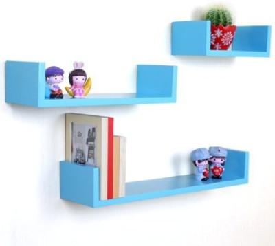 Decor Arts U Shape Wooden Wall Shelf